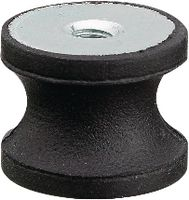 Rundpuffer Form F mittlere Härte 25 x 20 / M6   DIN 95363 - toolster.ch