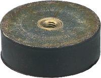 Anschlagpuffer Form C mittlere Härte 20 x 13.5 / M6   DIN 95364 - toolster.ch