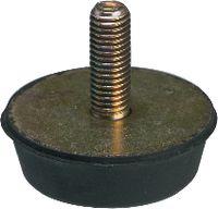 Anschlagpuffer Form D mittlere Härte 25 x 16 / M6   DIN 95364 - toolster.ch