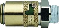 Sicherheitskupplung TS  Form H gerade mit Gewinde, ohne Ventil 9 / G1/4 / S6 - toolster.ch