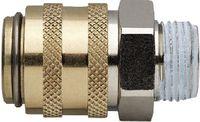 MOULDPRO Schnellverschlusskupplung H gerade, kurz mit Gewinde und Ventil 9/G1/4 / S6 - toolster.ch