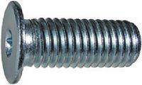 Zylinderschrauben mit Innensechsrund und extrem niedrigem Kopf Stahl ~8.8 / verzinkt-blau M  3  x  4 / X8 - toolster.ch