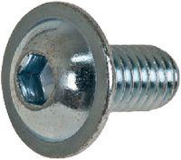 Linsenschrauben mit Flansch mit Innensechskant Stahl ~010.9 / verzinkt-blau M  5 x 10 - toolster.ch