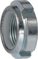 Nutmuttern Stahl / verzinkt-blau mit Sicherungsring aus Polyamid M 20 x 1 - toolster.ch