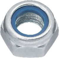 Sicherungsmuttern Stahl <B>Kl. 8</B> / verzinkt-blau niedrige Form mit Polyamideinlage M 6 - toolster.ch