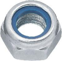 Sicherungsmuttern Stahl <B>Kl. 6</B> / verzinkt-blau niedrige Form mit Polyamideinlage M 4 - toolster.ch
