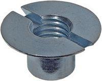 Senkmuttern 110° Stahl / verzinkt-blau mit Schlitz M 4 - toolster.ch
