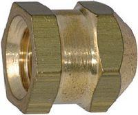Gewindeeinsätze zum Einlegen Messing / blank Form P sechskant, geschlossen, kurz M 4 - toolster.ch