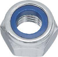 Sicherungsmuttern INOX A2 / verzinkt-blau niedrige Form mit Polyamideinlage M 5 - toolster.ch