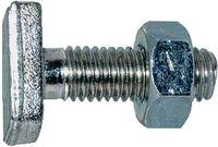 Aufhängeschrauben Stahl 4.6 / verzinkt-blau mit Sechskantmutter M  8 x 25 - toolster.ch