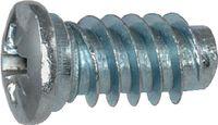 Euro Schrauben Stahl einsatzgehärtet / verzinkt-blau mit Doppelganggewinde und Kreuzschlitz Pozidriv Z Ø 6.3 x 10 (Pack à 100 Stk) - toolster.ch