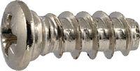 Euro Schrauben Linsenkopf Stahl / vernickelt mit Kreuzschlitz Pozidriv Form Z Ø 6.3 x 10 (Pack à 1000 Stk) - toolster.ch