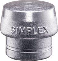 HALDER Simplex Ersatzeinsatz Weichmetall silber, 50 mm - toolster.ch