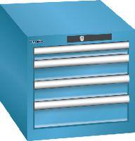 LISTA Schubladenschrank 18x27E, 4 Schubladen H 383 -  lichtblau RAL 5012 - toolster.ch