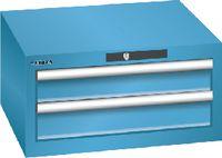 LISTA Schubladenschrank 27x27E, 2 Schubladen H 283 -  lichtblau RAL 5012 - toolster.ch