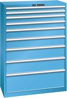 LISTA Schubladenschrank 54x27E, 9 Schubladen H 1450 -  lichtblau RAL 5012 - toolster.ch