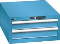 LISTA Schubladenschrank 27x36E, 2 Schubladen H 283 -  lichtblau RAL 5012 - toolster.ch