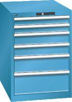 LISTA Schubladenschrank 27x36E, 6 Schubladen H 800 -  lichtblau RAL 5012 - toolster.ch