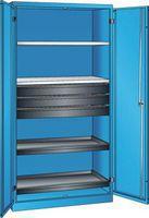 LISTA Materialschrank Mit Vollblechflügeltüren, RAL 5012 (HxBxT) 1950x1000x580 mm - toolster.ch