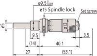 MITUTOYO Einbaumessschraube Standard, Klemmeinrichtung 0...13 / 0.01 - toolster.ch