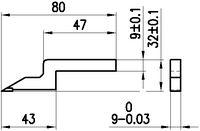 MITUTOYO Anreissschneide zu Serie 192 / 514 / 570 9 x 9 x 80 - toolster.ch