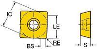 COROMANT Wendeplatte zu CoroMill 490 490R-08T304E-ML  2030 - toolster.ch