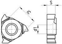 COROMANT Gewindeplatte 266RG, metr. Vollp. 1.50 / 16MM01A150M 1125 - toolster.ch