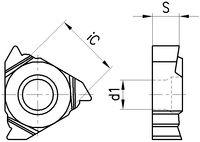 COROMANT Gewindeplatte 266RL, Withworth Vollp. innen 11 / 16WH01A110M 1125 - toolster.ch