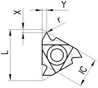 VARDEX Wendeplatte  ISO-IR, rechts,RH Vollprofil 60 Grad, metr.,Innengew. 3IR 1.50 ISO VTX - toolster.ch