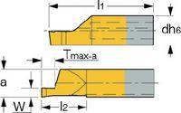 ISCAR Schneideinsatz  PICCO-CUT Typ 010, rechts, für Axialeinstiche PICCO R 010.1008-20 IC228 - toolster.ch