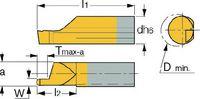 ISCAR Schneideinsatz  PICCO-CUT Typ 010, rechts, für Axialeinstiche PICCO R 010.1005-20 IC1008 - toolster.ch