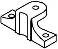 MULTIFIX Konsole ohne Stellschraube Für Typ B 100.238 - toolster.ch