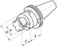 FUTURO Kombi-Aufsteckfräsdorn DIN 69871AD, kurz SK 40  22 x 55 - toolster.ch