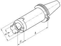 FUTURO Kombi-Aufsteckfräsdorn DIN 69871AD, lang SK 40   16  x  100 - toolster.ch