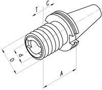FUTURO Gewindeschneid- Schnellwechselfutter , DIN 69871 A SK 40  M3-M14 - toolster.ch