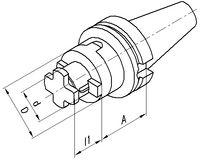 FUTURO Kombi-Aufsteckfräsdorn JIS-B 6339AD, kurz BT 40  22 x 55 - toolster.ch