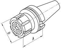 FUTURO Mandrin à pince de serrage MAS-BT, AD/B BT 40  ER 32 x 70 - toolster.ch