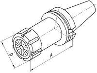 FUTURO Mandrin à pince de serrage MAS-BT, AD/B BT 40  ER 25 x 100 - toolster.ch