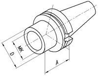FUTURO Douille intermédiaire JIS-B 6339AD BT 40  MK2 - toolster.ch