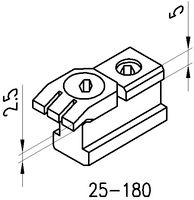 KOPAL MINI CLAMP 25-180 Nutenanschlag 2.5-10mm - toolster.ch