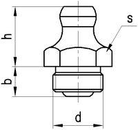 Schmiernippel Stahl verzinkt H5/ M6 - toolster.ch
